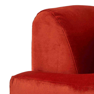 close up of the Piper Apricot 2 Seater Sofa from Roseland Furniture