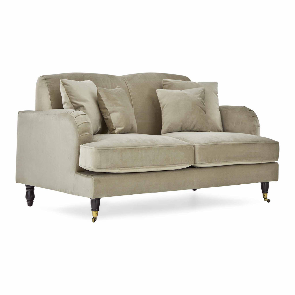 Piper Putty Velvet 2 Seater Settee from Roseland Furniture