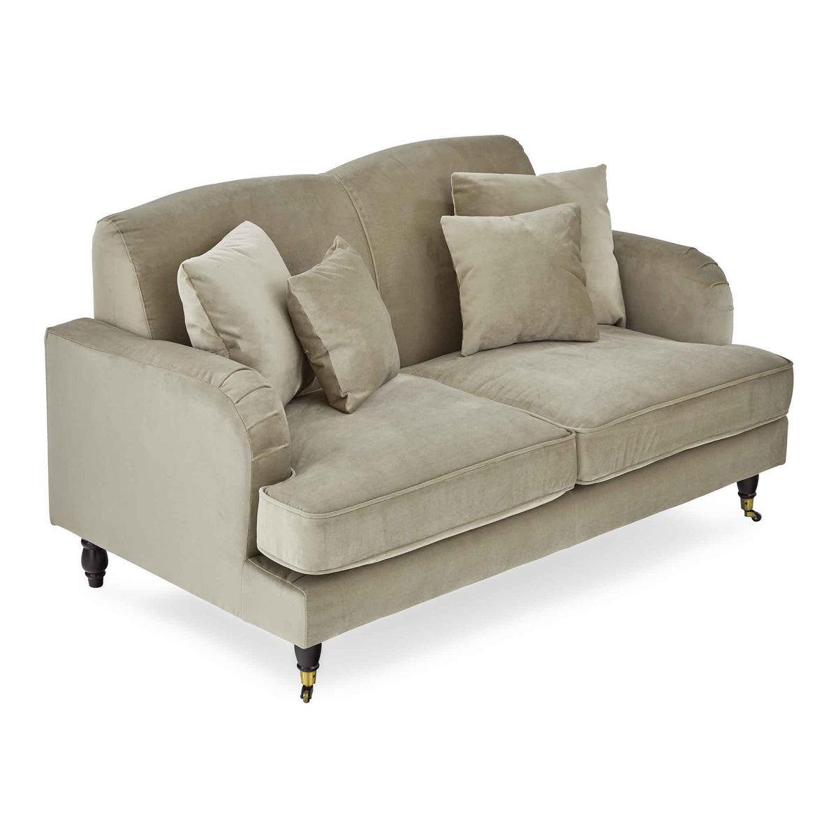 Piper Putty Velvet 2 Seater Couch from Roseland Furniture