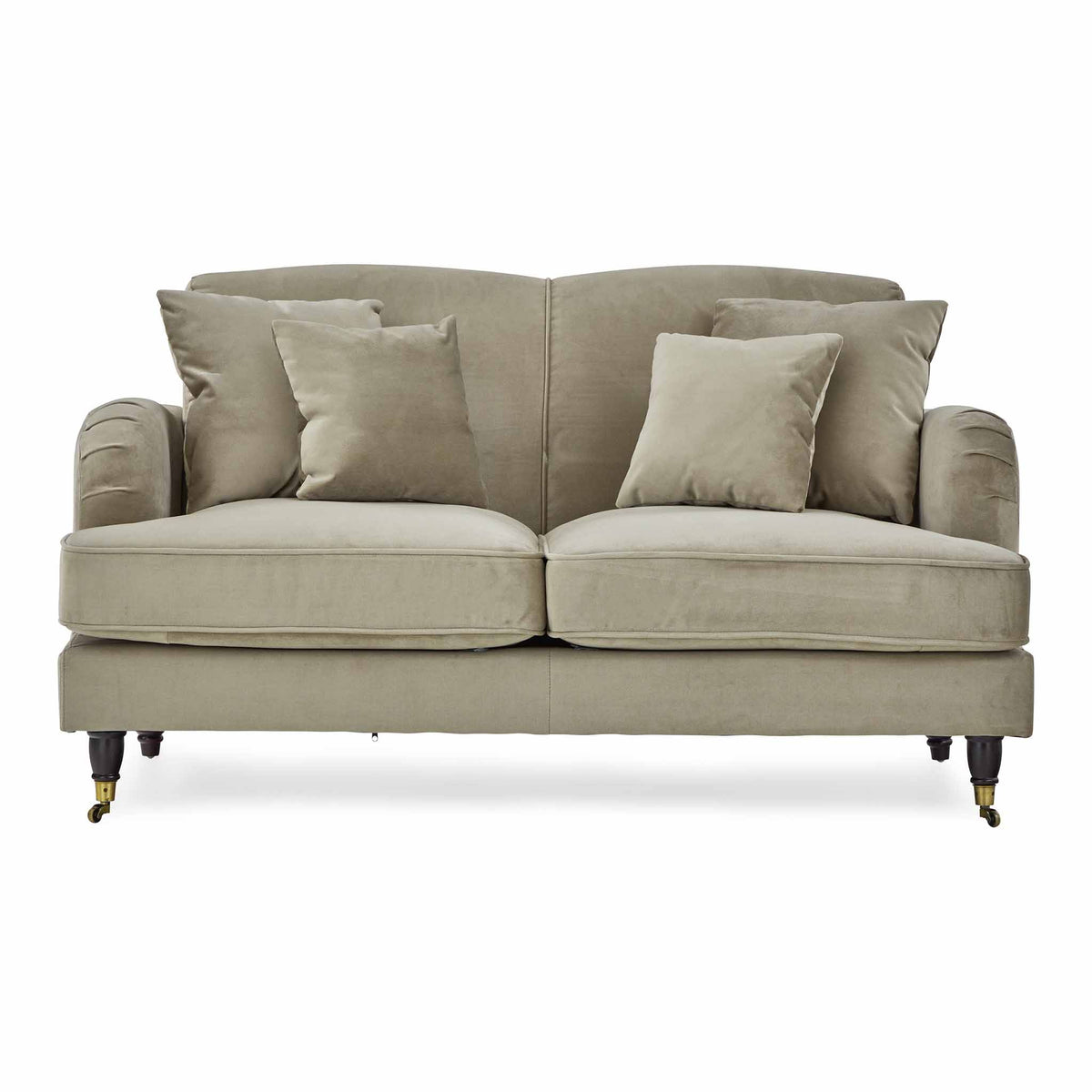 Piper Putty Velvet 2 Seater Sofa from Roseland Furniture