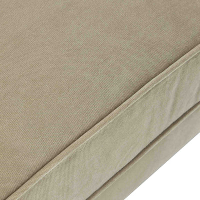 close up of piping detail on the Piper Putty Velvet 2 Seater Sofa from Roseland Furniture