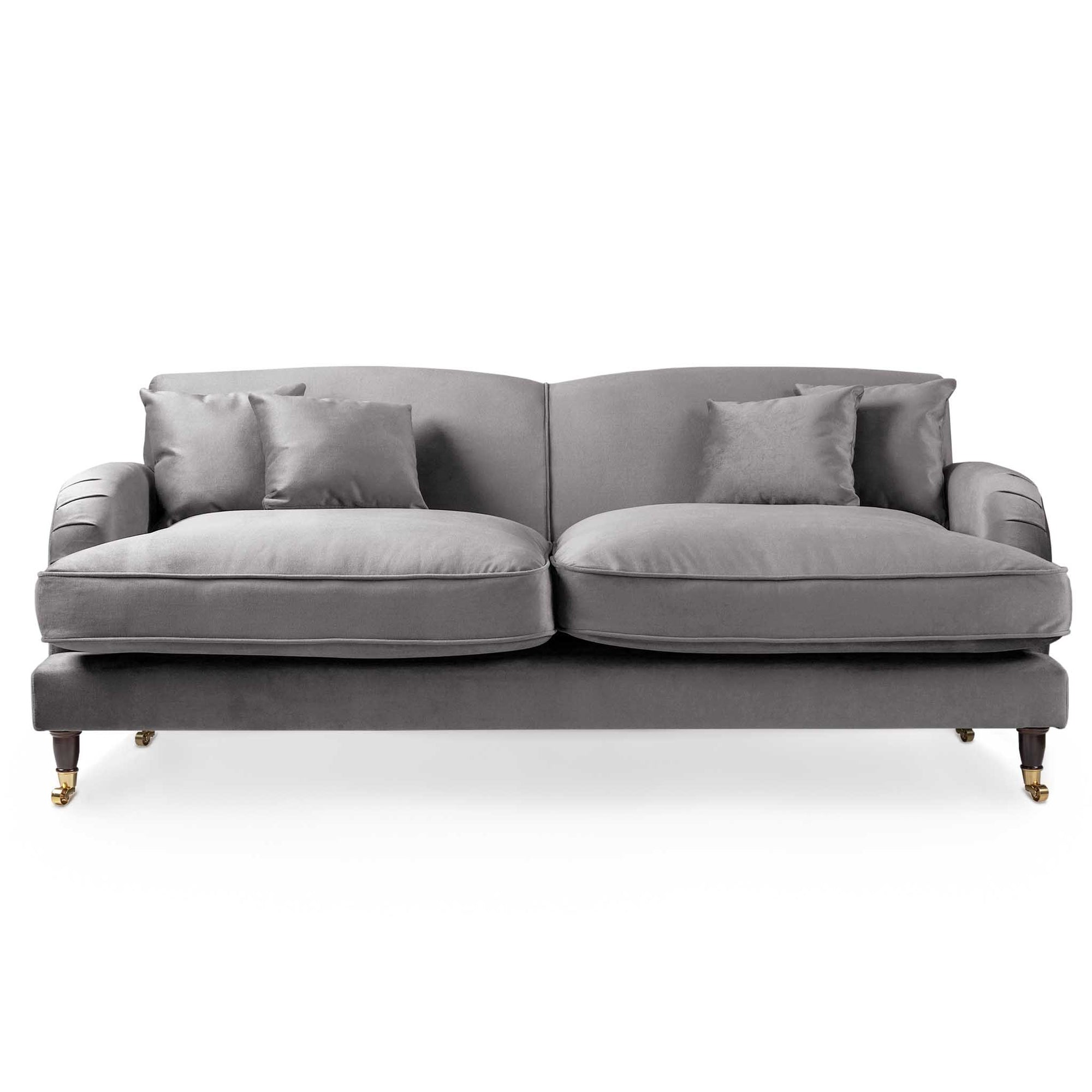 Piper Grey Velvet 3 Seater Sofa from Roseland Furniture