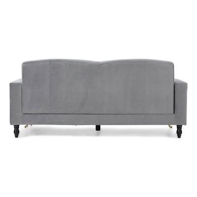 back view of the Piper Grey Velvet Corner Chaise Sofa from Roseland Furniture