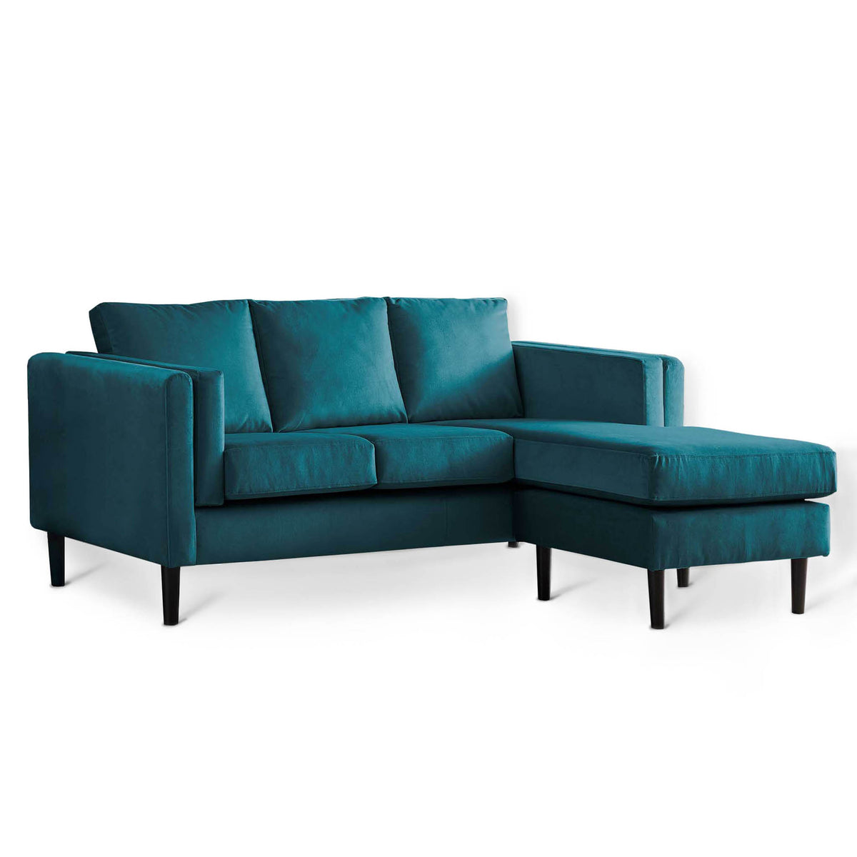 Sandringham Peacock Velvet Corner Chaise Sofa from Roseland Furniture