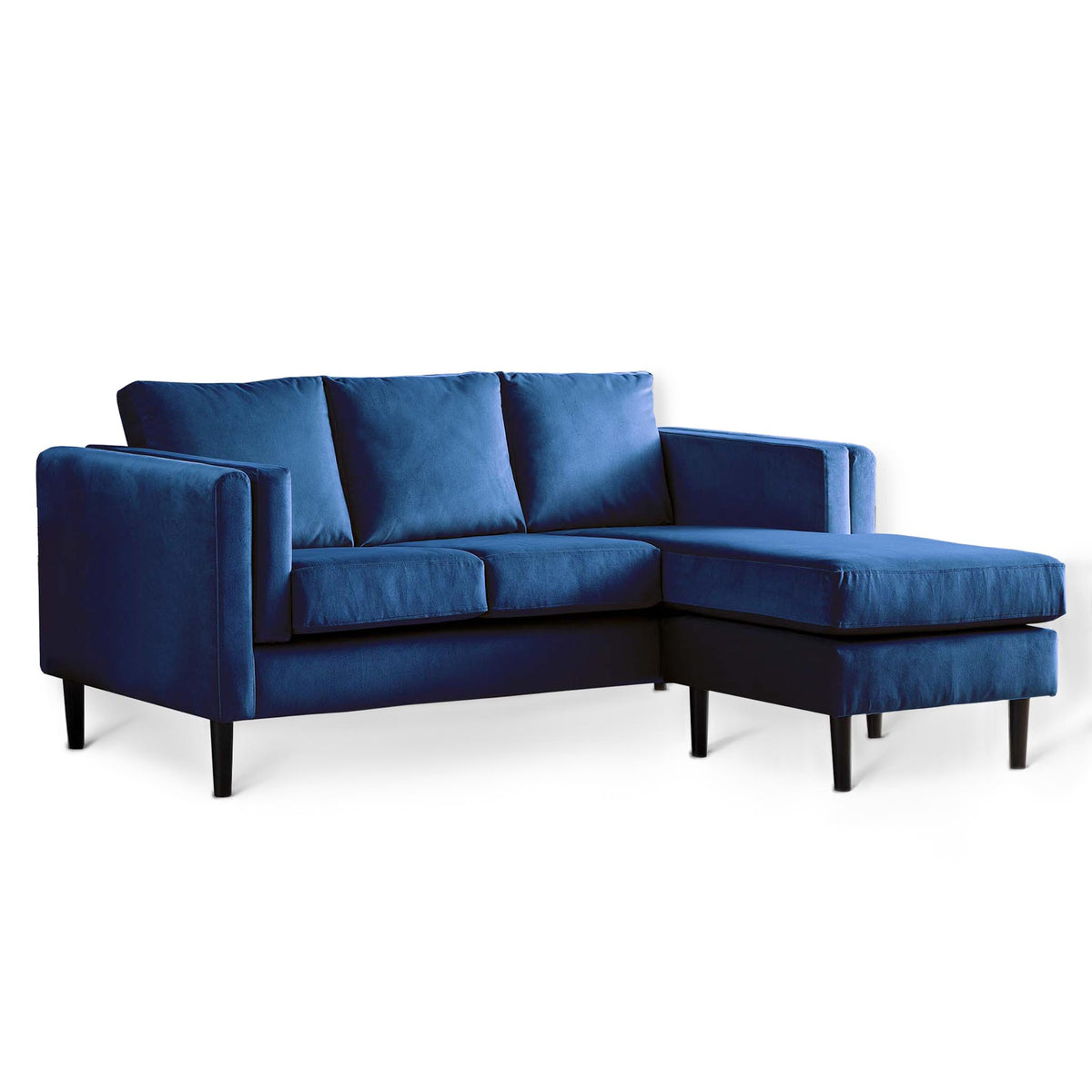 Sandringham Navy Velvet Corner Chaise Sofa from Roseland Furniture