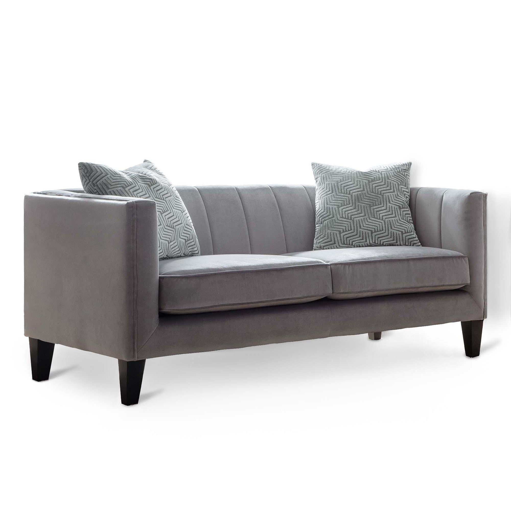 Savana Grey Velvet 2 Seater Sofa by Roseland Furniture