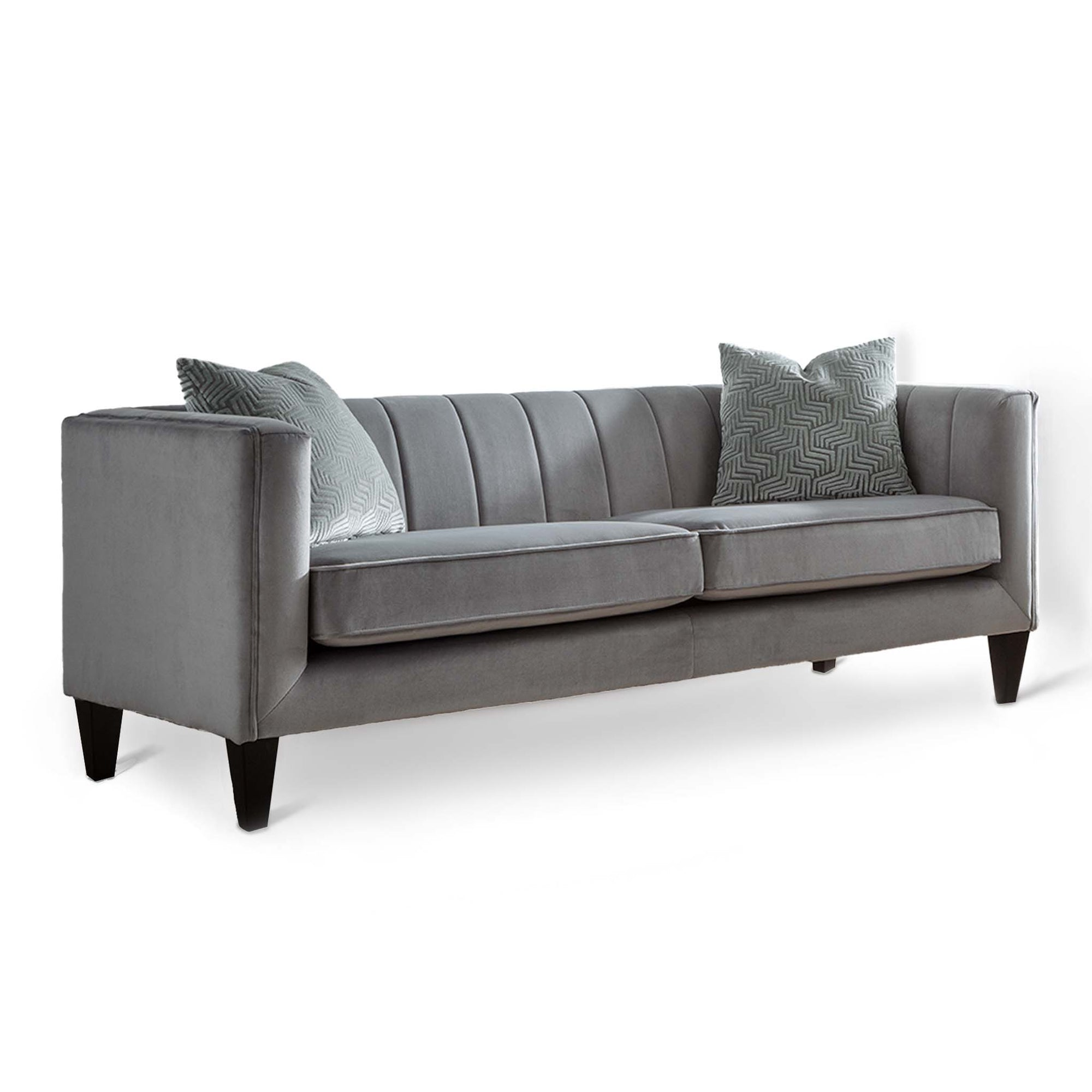 Savana Grey Velvet 3 Seater Sofa from Roseland Furniture