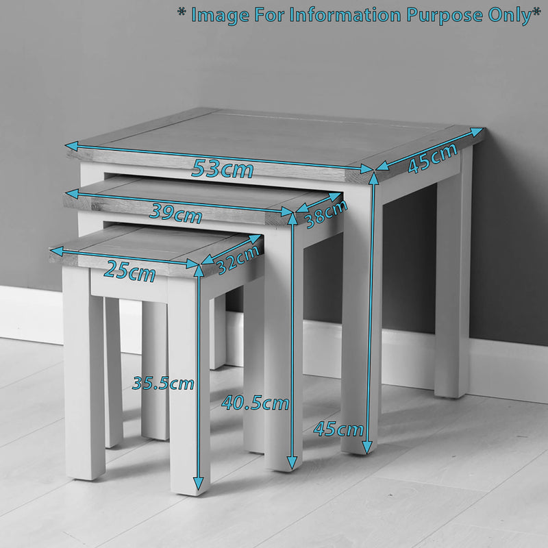 Mullion Painted Nest of Tables