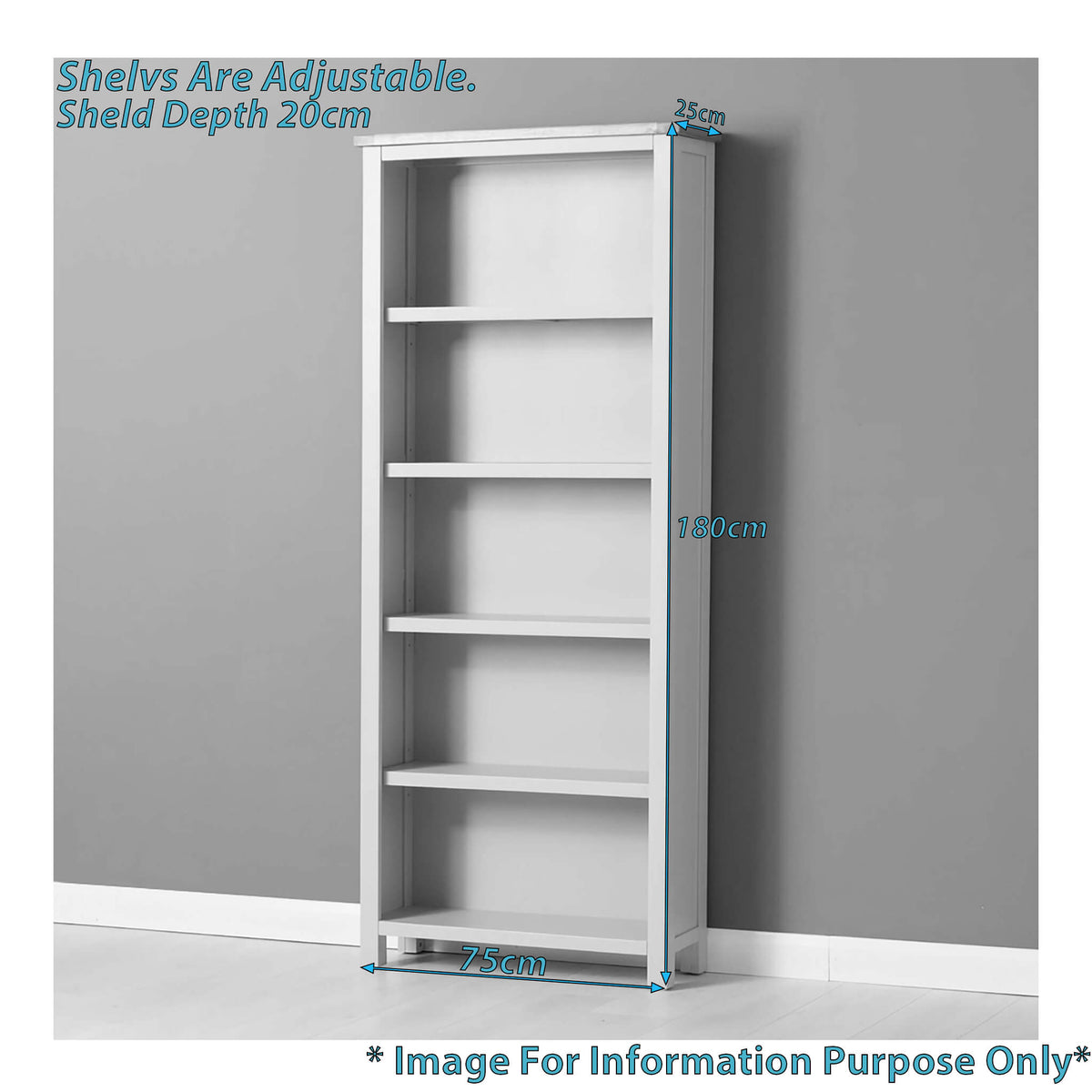 Mullion Grey Large Bookcase