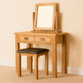 Lanner Oak Dressing Table Set