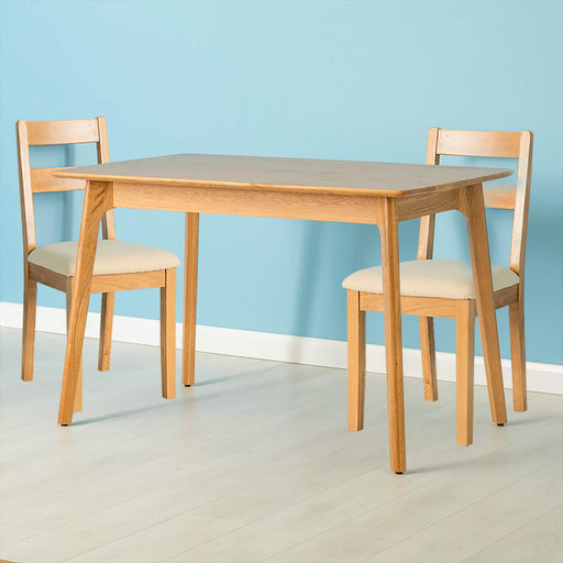 Nordic Oak 120cm Table Dining Set ( 2 Chairs )