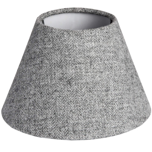 Yorkshire Grey Herringbone Lamp Shade - Small