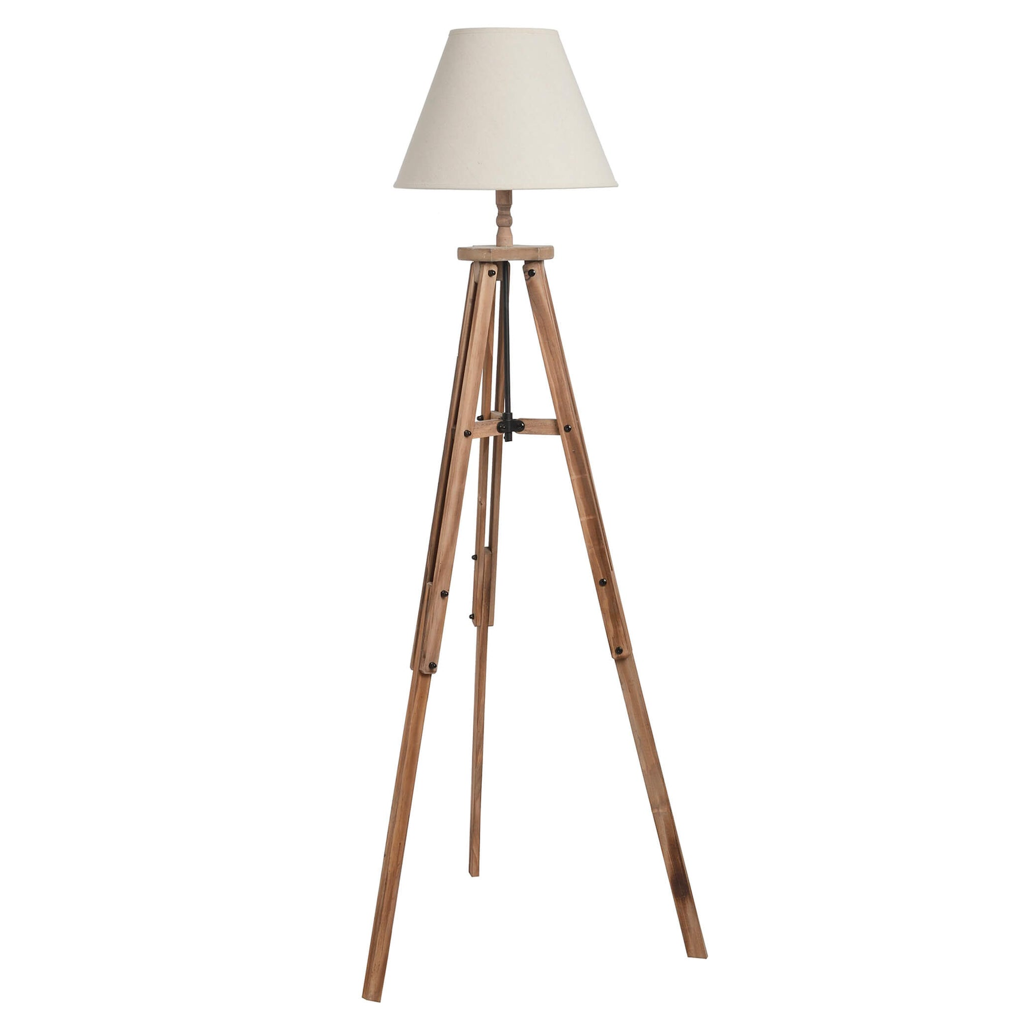 Wooden Tripod Lamp - Large