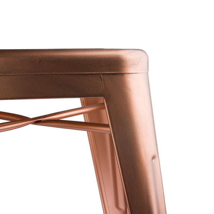 Copper Effect Industrial Stool