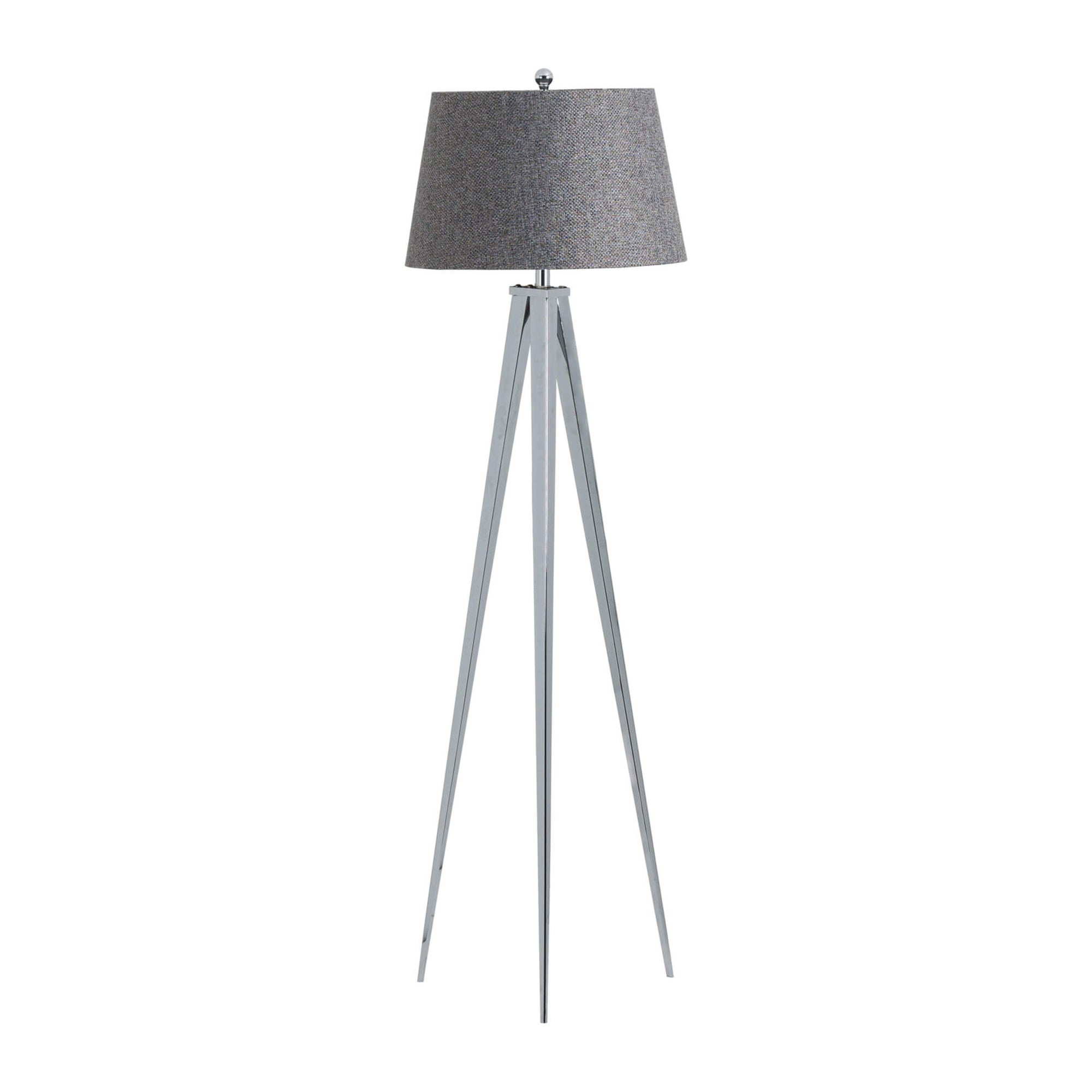 Genoa Chrome Tripod Floor Lamp