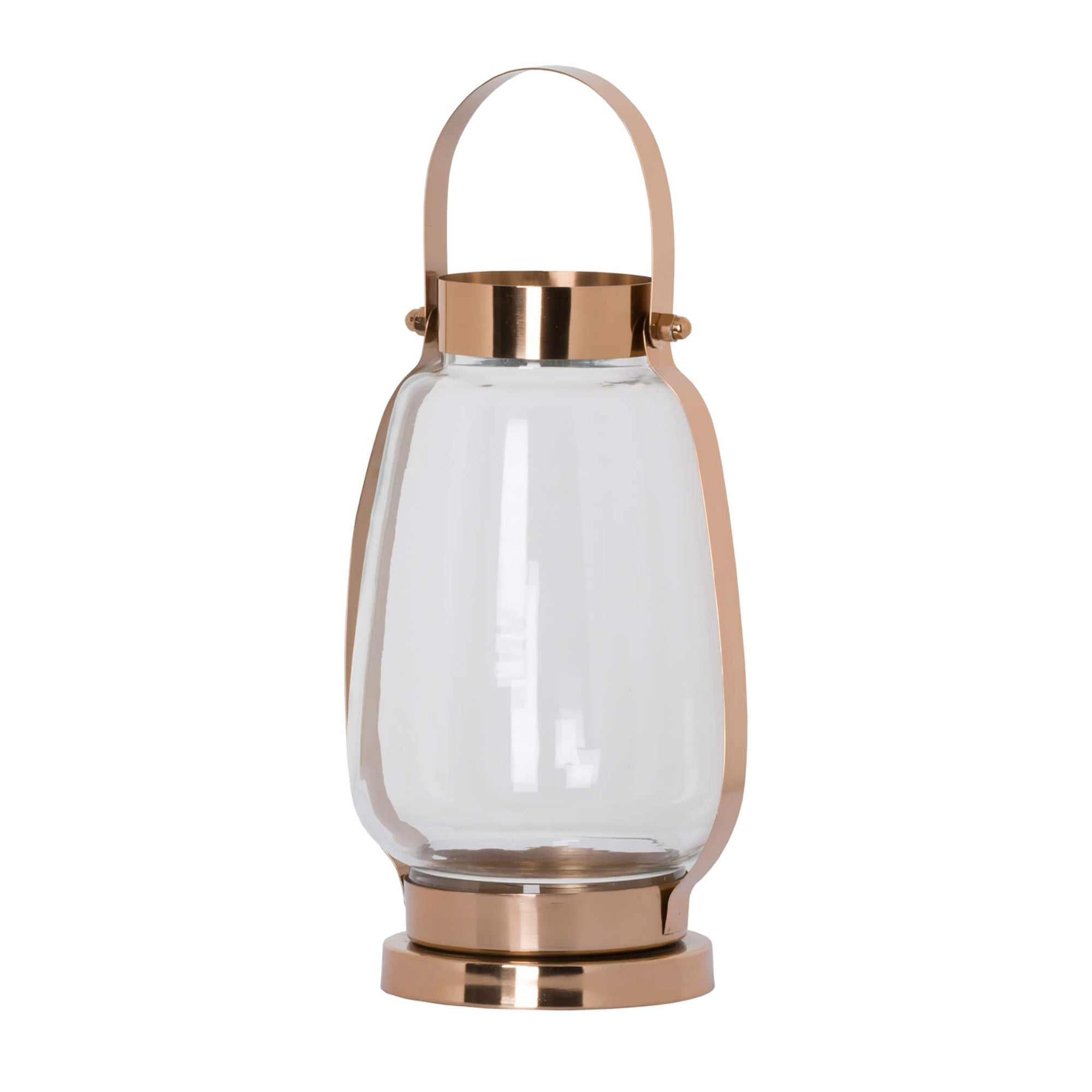 Small Copper Encased Glass Lantern