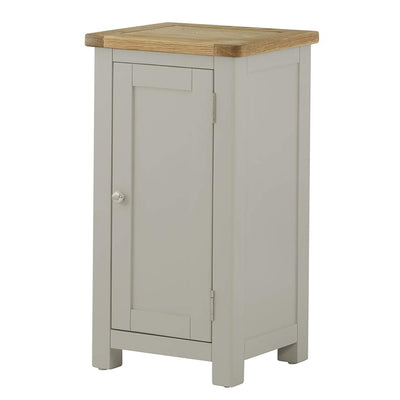 Padstow Grey Painted 1 Door Cabinet by Roseland Furniture