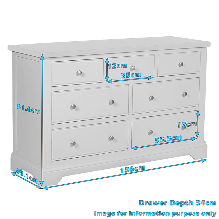 Berkeley 3 over 4 Chest of Drawers