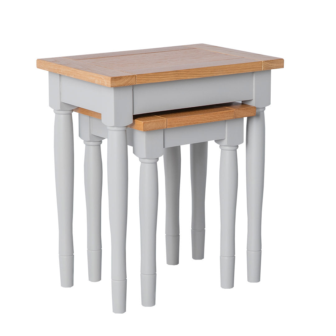 Chichester Chester Grey Nest of Tables from Roseland Furniture