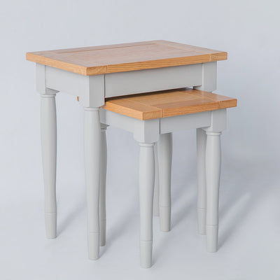 Side view of the Chichester Chester Grey Nest of Tables
