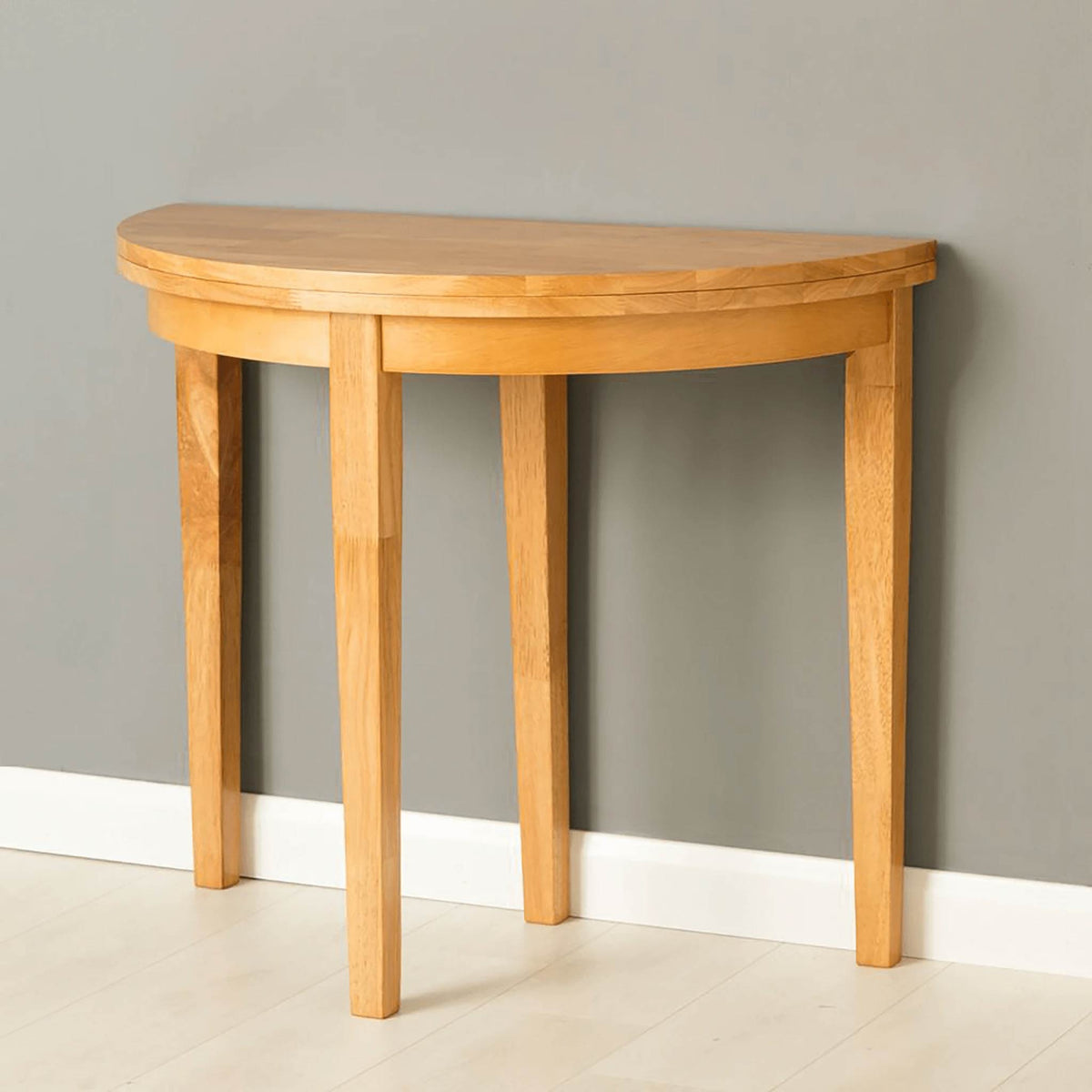 Oxford Light Oak Half Moon Table  by Roseland Furniture
