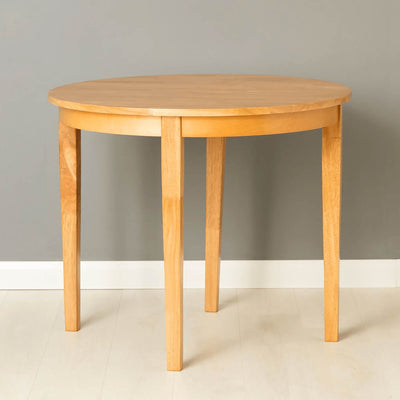 Oxford Light Oak Half Moon Table - open view