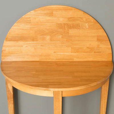 Oxford Light Oak Half Moon Table - table opening