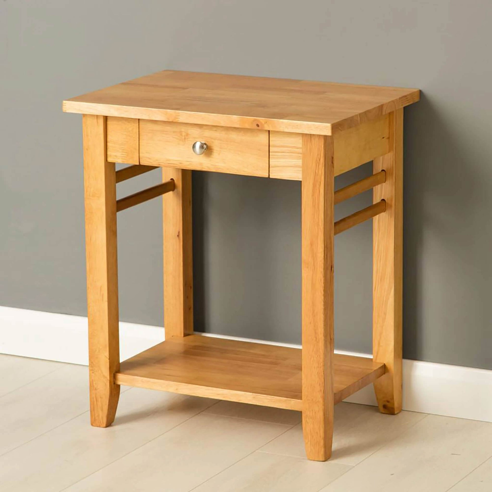 Oxford Light Oak Lamp Side Table by Roseland Furniture