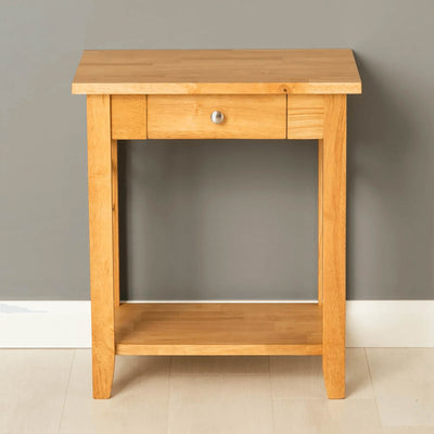 Oxford Light Oak Lamp Side Table - front view