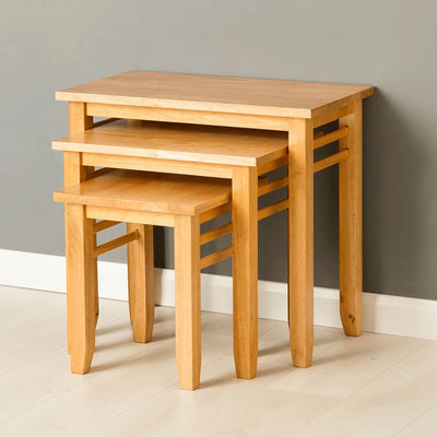 Oxford Light Oak Nest of Tables by Roseland Furniture