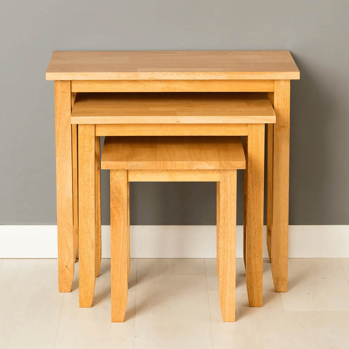 Oxford Light Oak Nest of Tables - front view