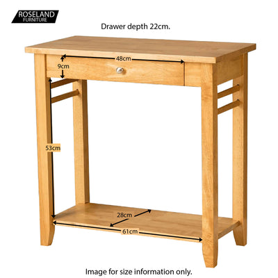 Oxford Light Oak Console Table - Additional Sizes