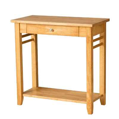 Oxford Light Oak Console Table by Roseland Furniture