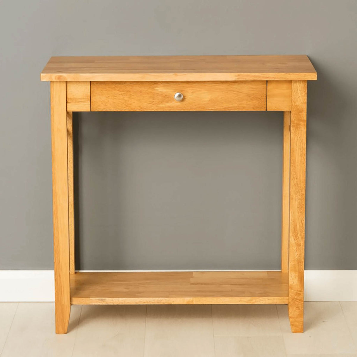 Oxford Light Oak Console Table - front view