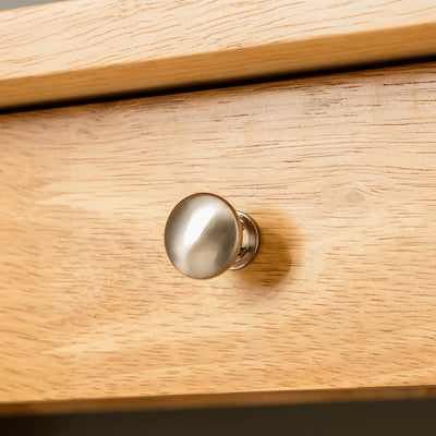 Oxford Light Oak Console Table - drawer knob