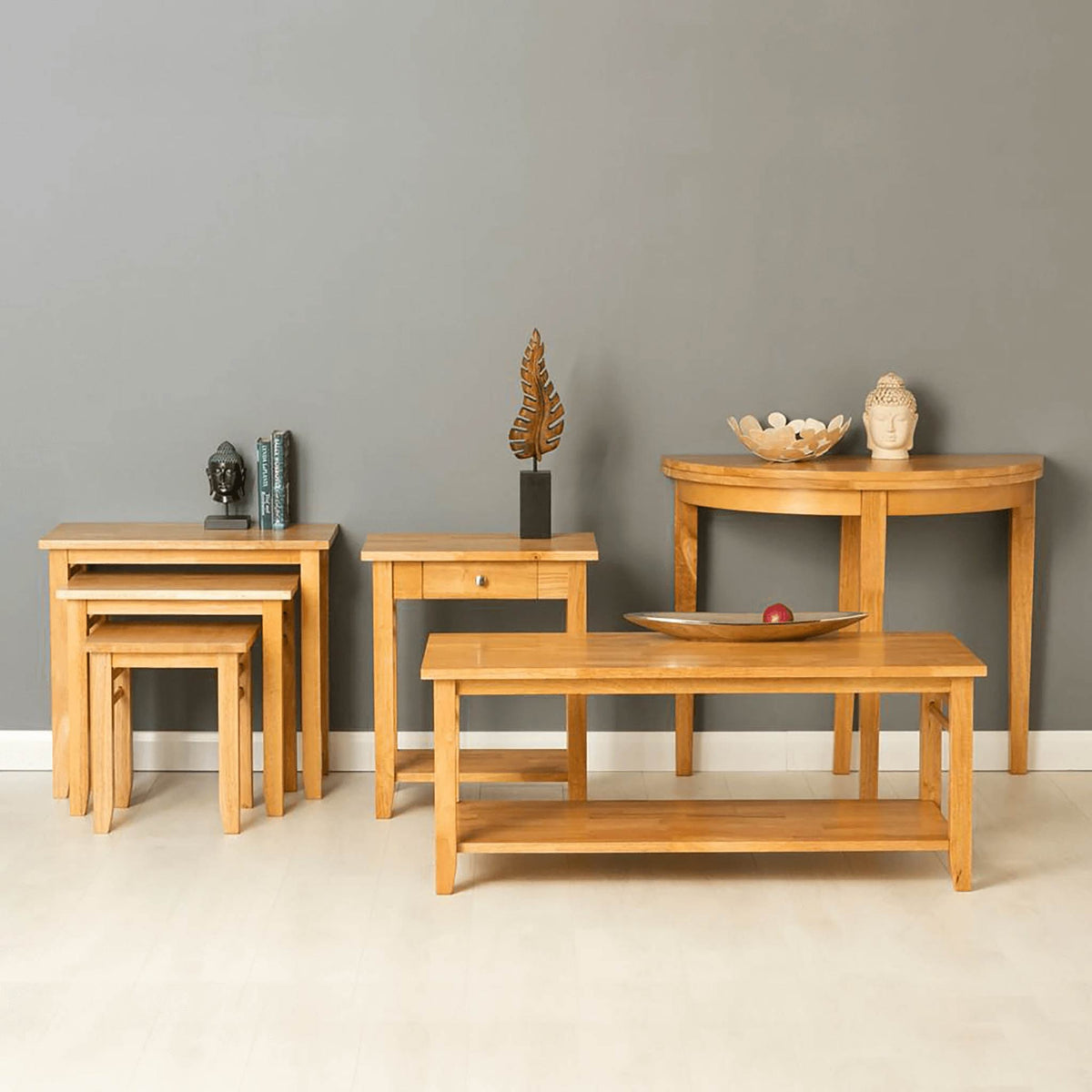Oxford Light Oak Console Table - range view