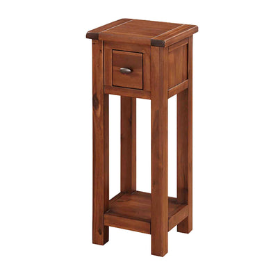 The Prussia Acacia Dark Wooden Small Telephone Stand from Roseland Furniture