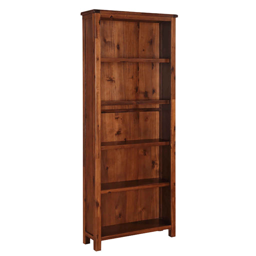The Prussia Acacia Dark Wood Large Tall Bookcase with 5 Shelves from Roseland Furniture