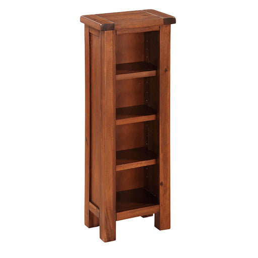 The Prussia Acacia Dark Wood DVD or CD Stand with 4 Shelves from Roseland Furniture