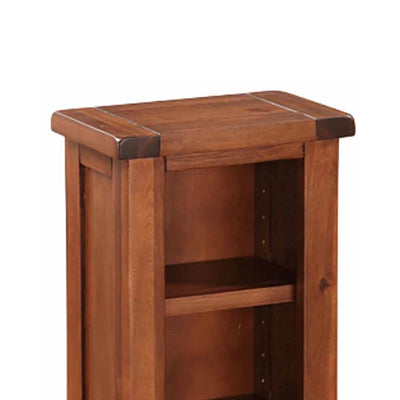 Prussia Acacia Dark Wood DVD or CD Stand  - Close up of top of unit