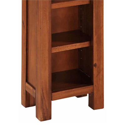Prussia Acacia Dark Wood DVD or CD Stand - Close up of base of unit