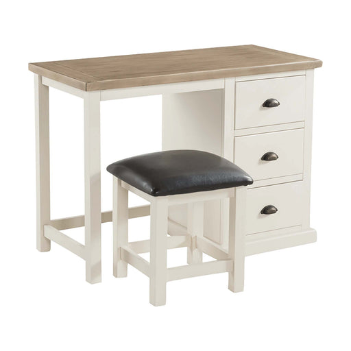 St Ives Painted Dressing Table & Stool by Roseland Furniture