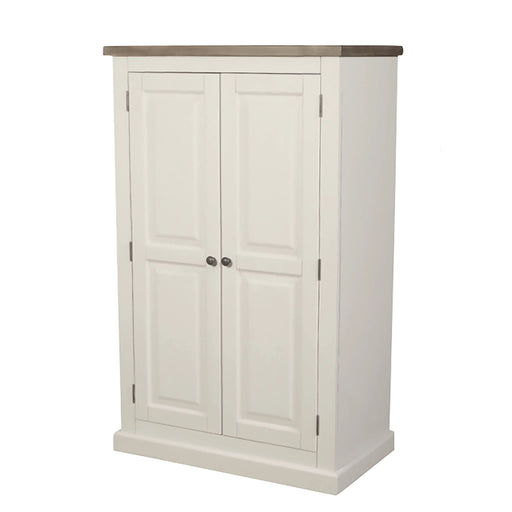 St Ives Painted Linen Press by Roseland Furniture