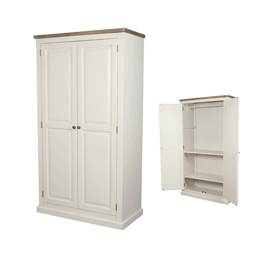 St Ives Painted All Hanging Double Wardrobe by Roseland Furniture