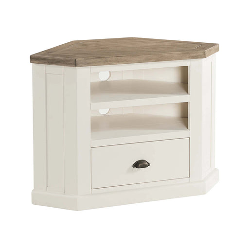 St Ives Painted Corner TV Stand by Roseland Furniture