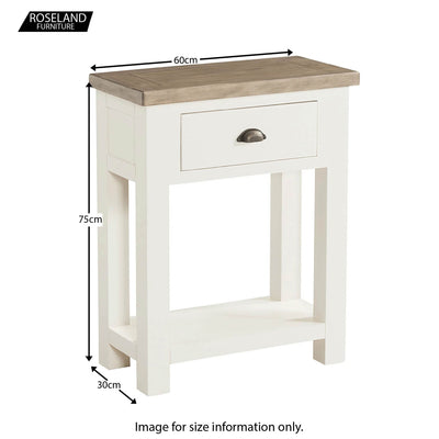 St Ives Telephone Side Table - Size Guide