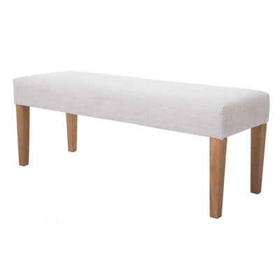 The Zara Beige Fabric Hallway Bench from Roseland Furniture