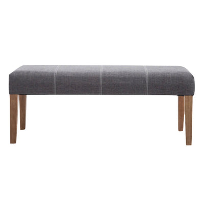 The Zara Grey Padded Bedroom Bench from Roseland Furniture