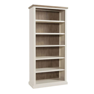 St Ives Painted Large Bookcase by Roseland Furniture