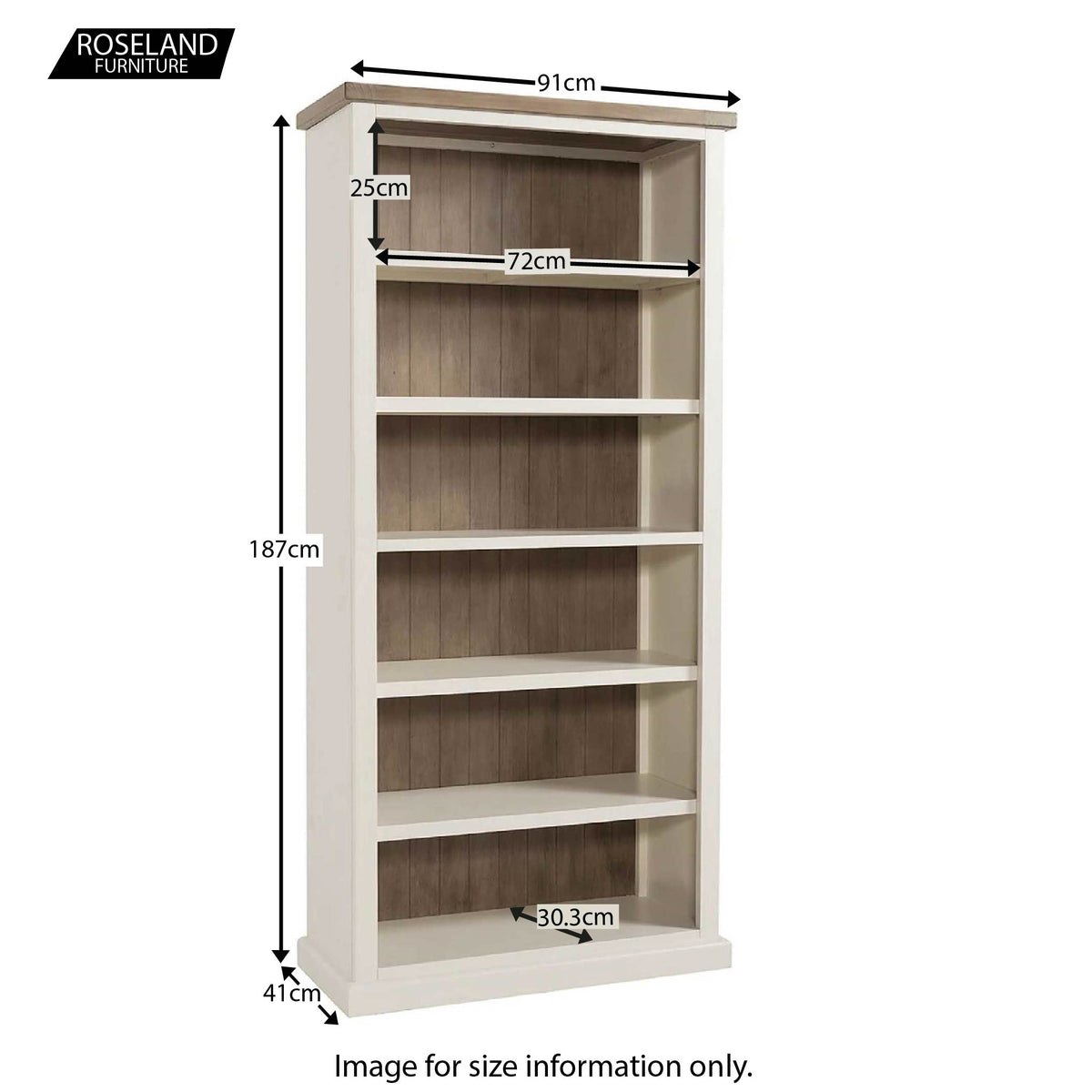 St Ives Large Bookcase - Size Guide